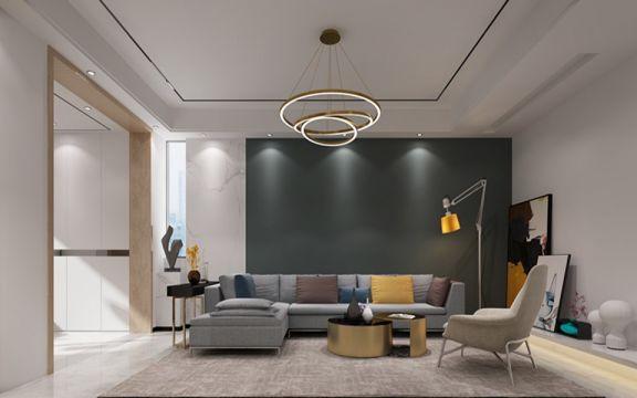 233平现代风格两居室装修效果图