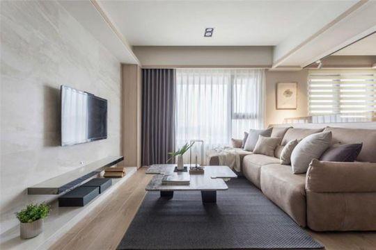 112平简欧风格两居室装修效果图