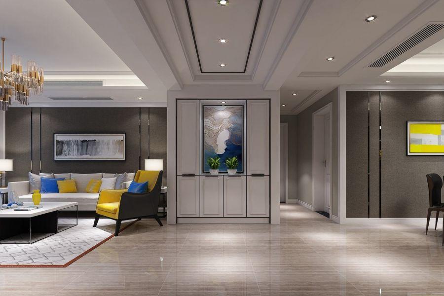 客厅走廊混搭风格装修图片