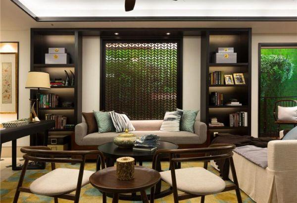 客厅沙发新中式风格装修设计图片