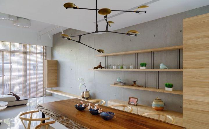 餐厅餐桌日式风格装修设计图片