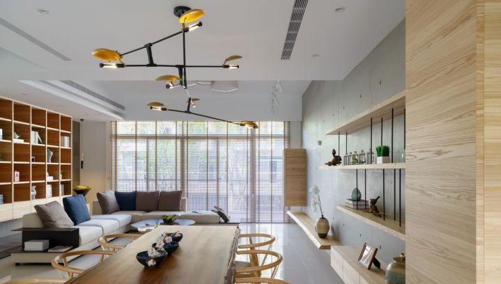 162平日式风格三居室装修效果图