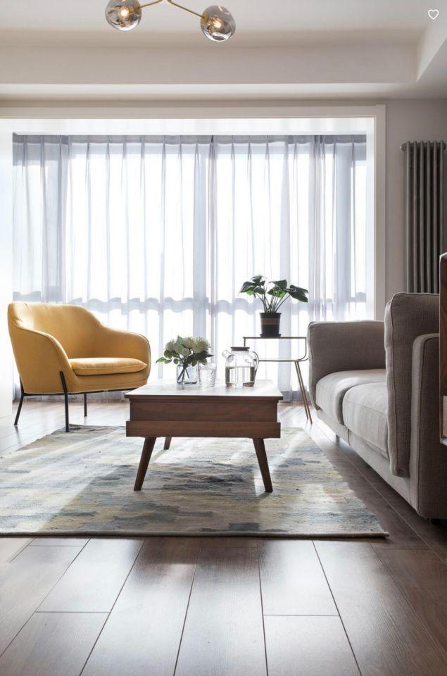 客厅窗帘北欧风格装潢效果图