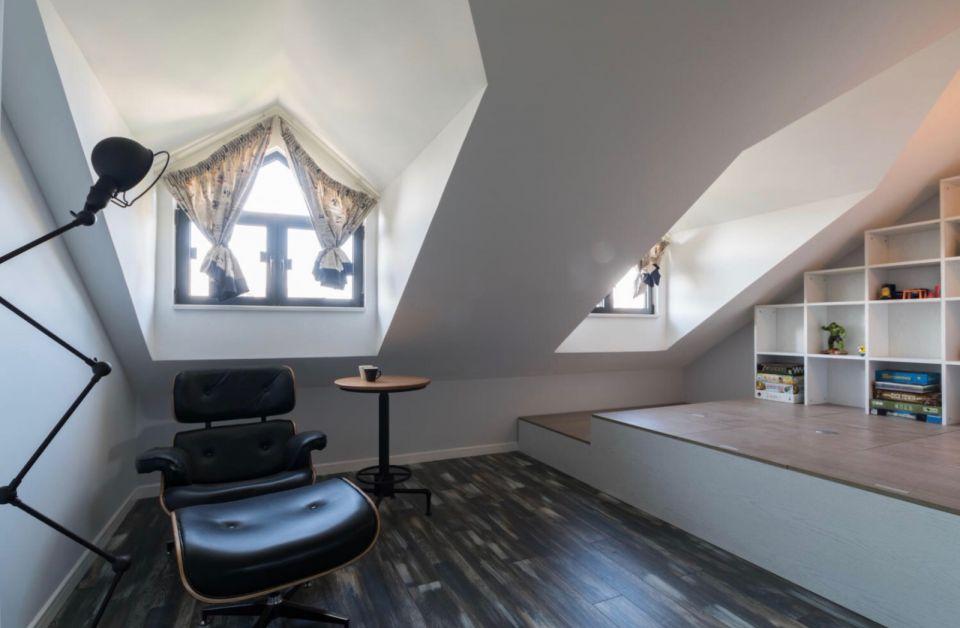 书房阁楼北欧风格装饰效果图