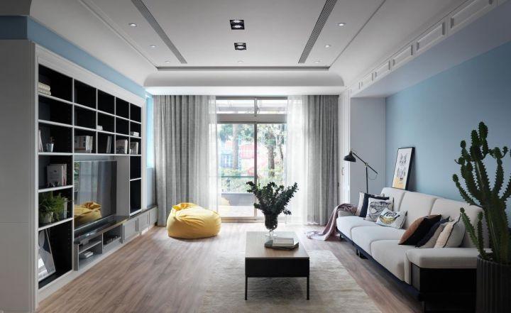 112平美式风格两居室装修效果图