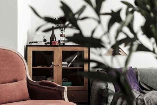 客厅背景墙混搭风格装潢图片