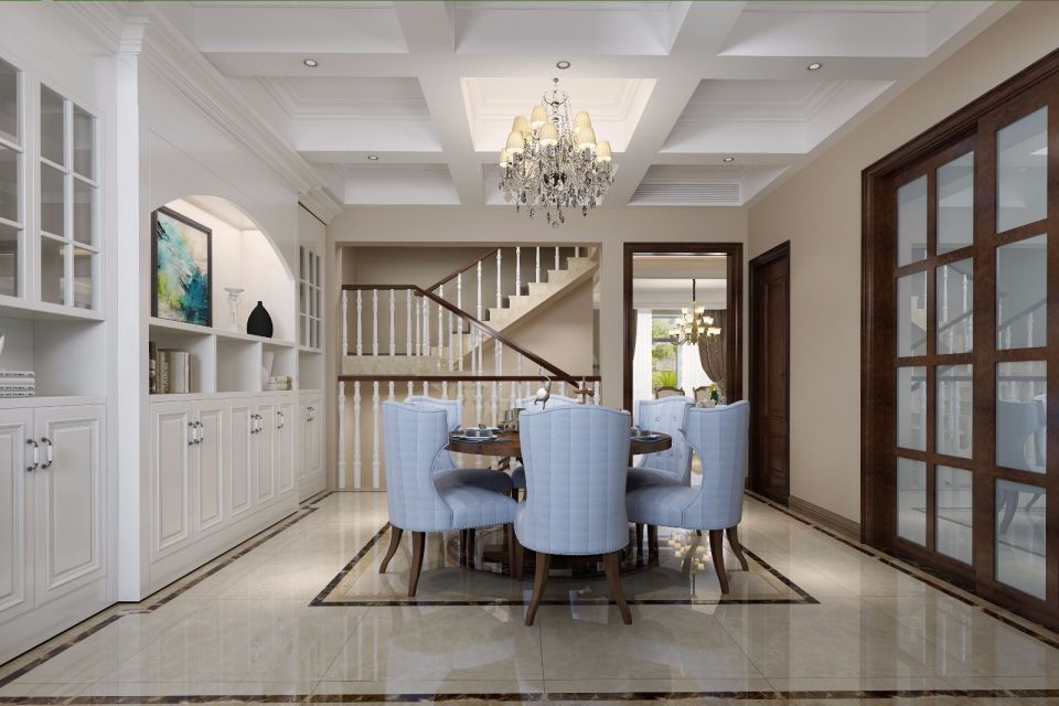 140平新中式风格三居室装修效果图