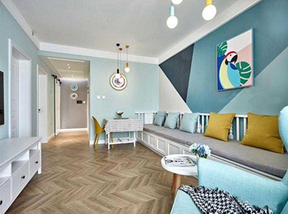 75平北欧风格两室一厅装修效果图