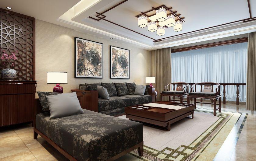 2019新中式240平米u乐娱乐平台图片 2019新中式套房设计图片