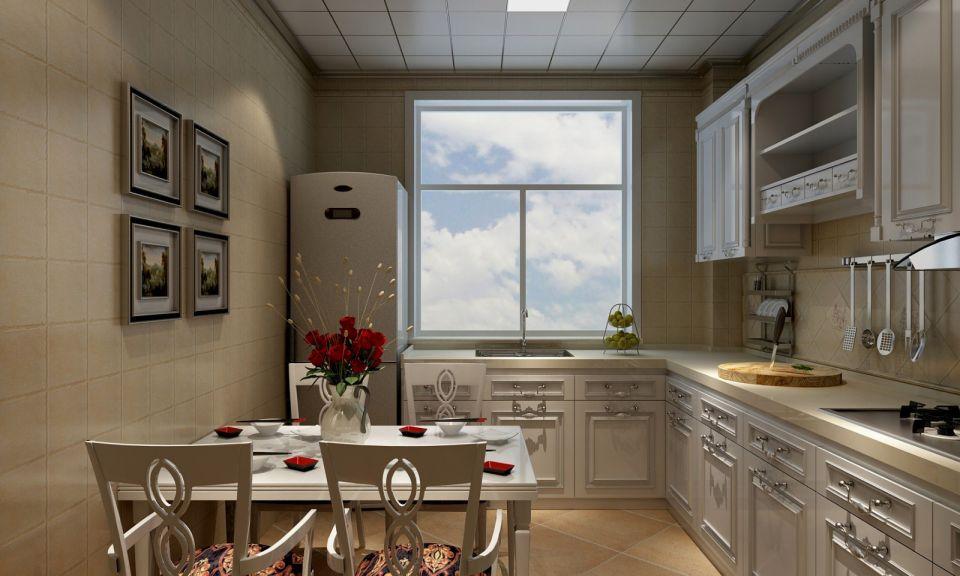 厨房白色橱柜田园U乐国际u乐娱乐平台图片