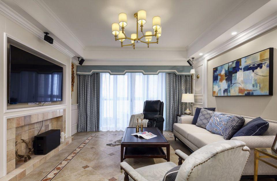 107平混搭风格两居室装修效果图