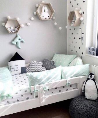 溫馨灰色臥室兒童床裝修案例圖片