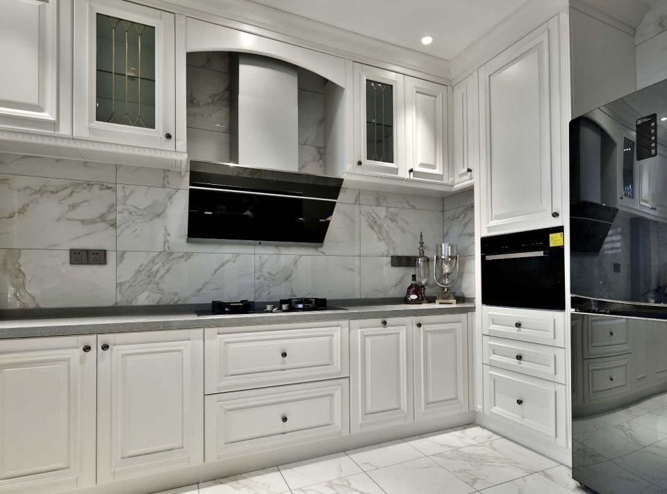 廚房米色整體櫥柜效果圖圖片