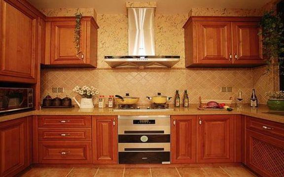 新中式廚房整體櫥柜裝修美圖
