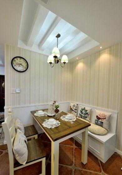 餐厅咖啡色餐桌田园U乐国际装饰设计图片