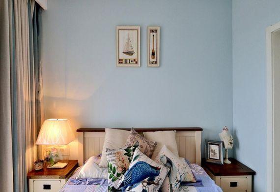 卧室背景墙田园u乐娱乐平台设计图片