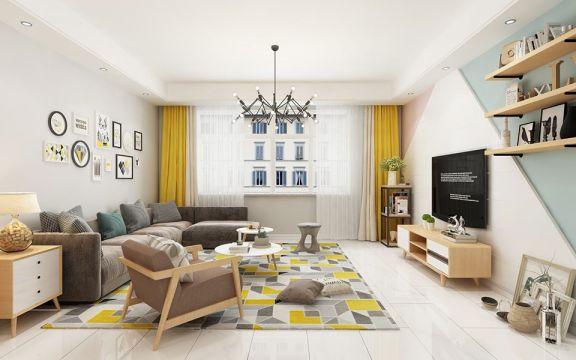 140平现代风格四居室装修效果图