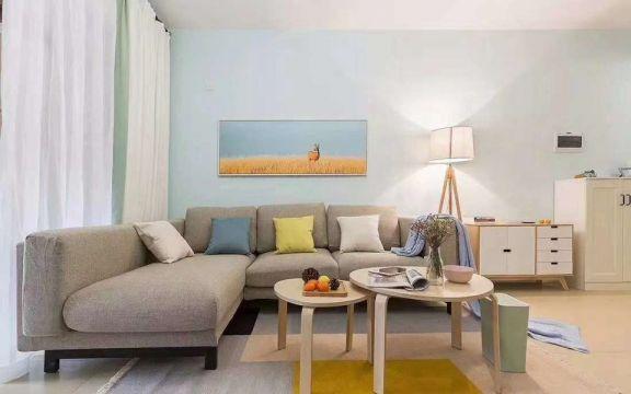 90平簡單風格一居室裝修效果圖