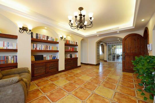 195平中式古典风格三居室装修效果图