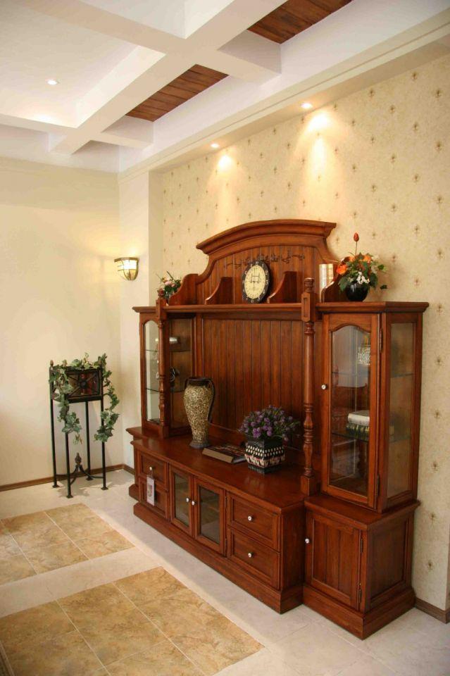 奢华客厅美式实木家具案例图片