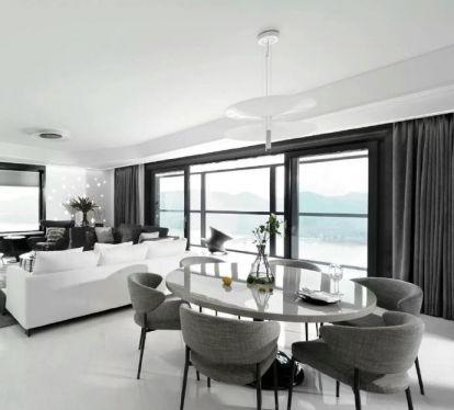 140平简约风格公寓装修效果图