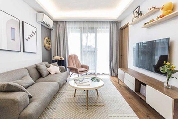102平北欧风格两室一厅装修效果图