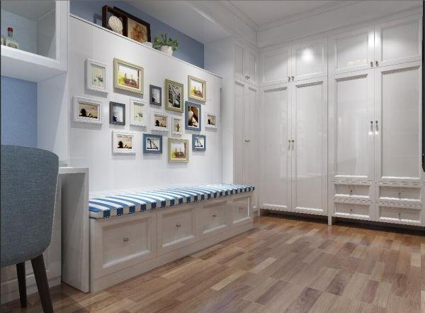 客廳咖啡色地磚地中海風格裝潢設計圖片