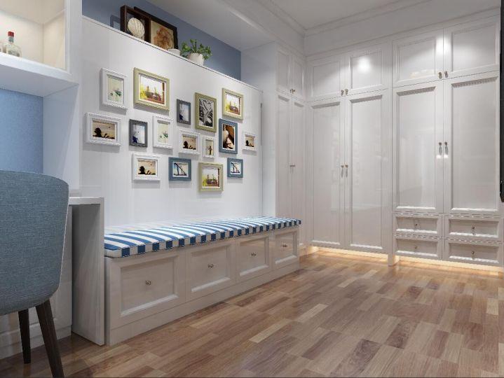 客廳白色沙發地中海風格裝修效果圖