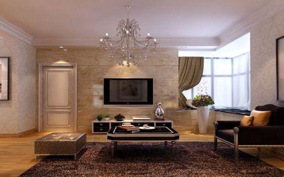 2019现代欧式90平米装饰设计 2019现代欧式二居室u乐娱乐平台设计