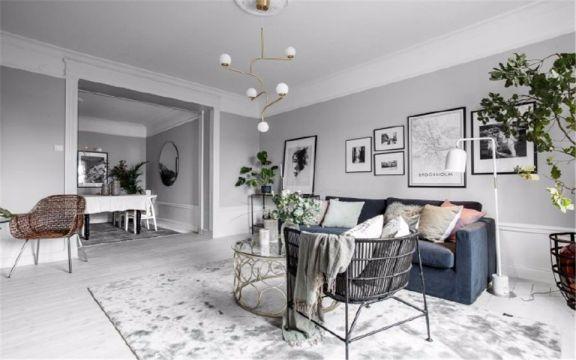 91平现代简约风格两居室装修效果图