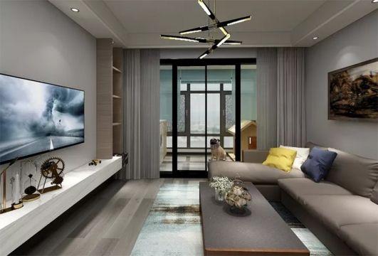 98平新中式风格两居室装修效果图