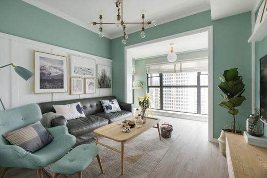 114平简欧风格两居室装修效果图