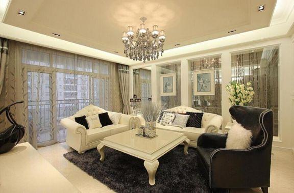 103平古典風格三居室裝修效果圖