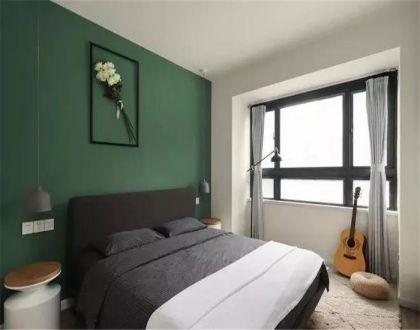 臥室背景墻北歐風格裝飾設計圖片