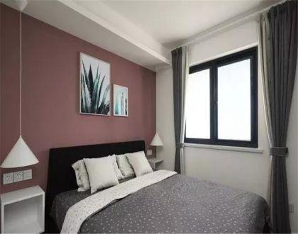 臥室窗簾北歐風格裝潢設計圖片