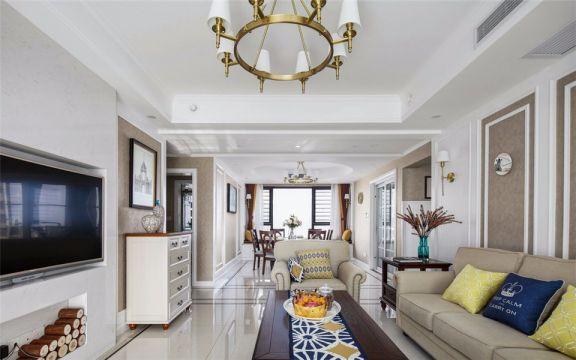 客廳吊頂混搭風格裝飾效果圖