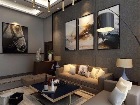 客廳背景墻簡歐風格裝飾圖片