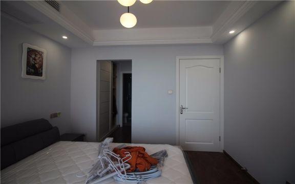 臥室背景墻美式風格裝潢圖片