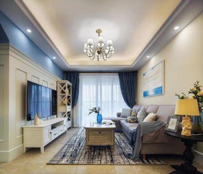 89平美式風格三居室裝修效果圖