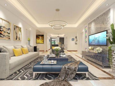 客廳沙發現代簡約風格裝潢效果圖