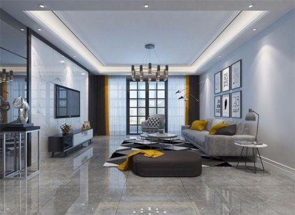 106平現代簡約風格三居室裝修效果圖