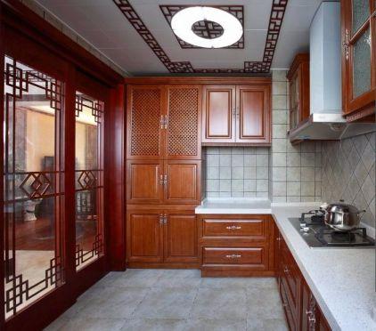 廚房推拉門中式風格裝飾圖片