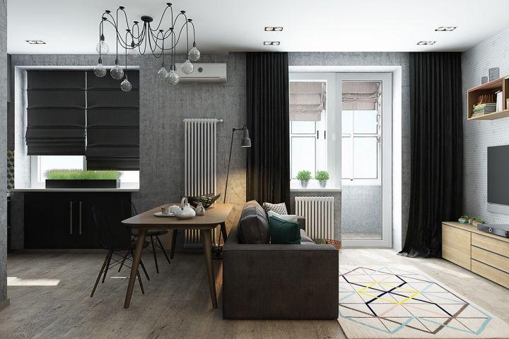 92平現代風格公寓裝修效果圖