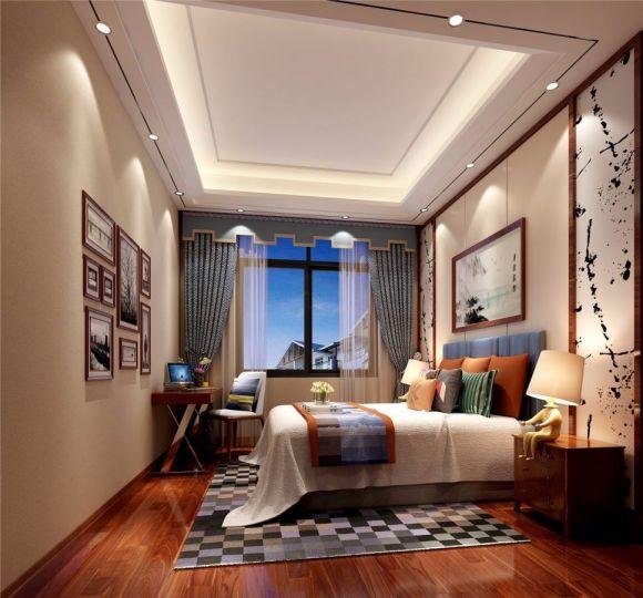 臥室吊頂中式風格裝潢圖片