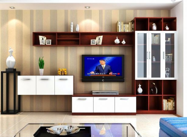 客廳電視柜簡約風格裝潢圖片