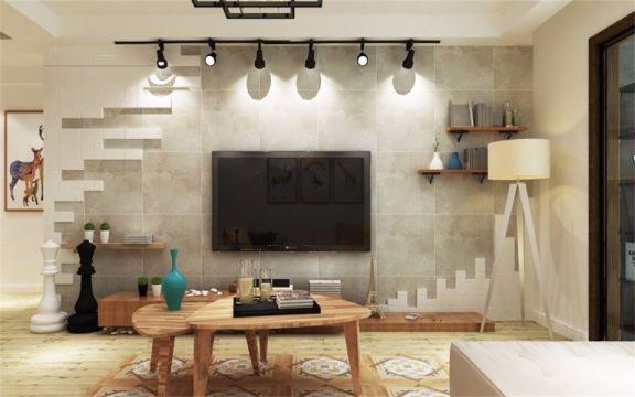 96平北歐風格三居室裝修效果圖