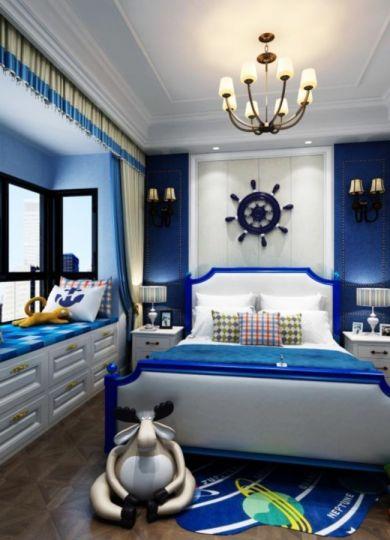 兒童房床美式風格效果圖