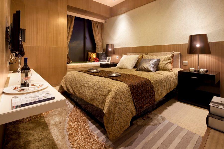 臥室背景墻現代風格裝飾效果圖