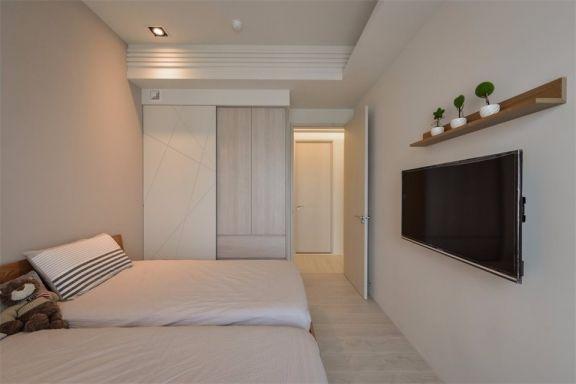 臥室背景墻日式風格裝修圖片