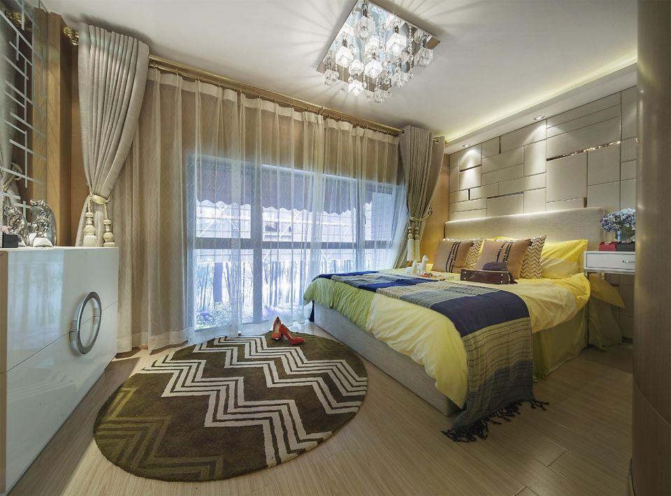 臥室背景墻現代風格裝潢設計圖片